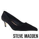 STEVE MADDEN-SABRINAH 素面尖頭中跟鞋-絨黑