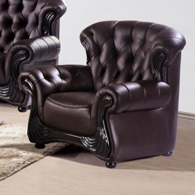 AS -維奧拉咖啡色單人座皮沙發