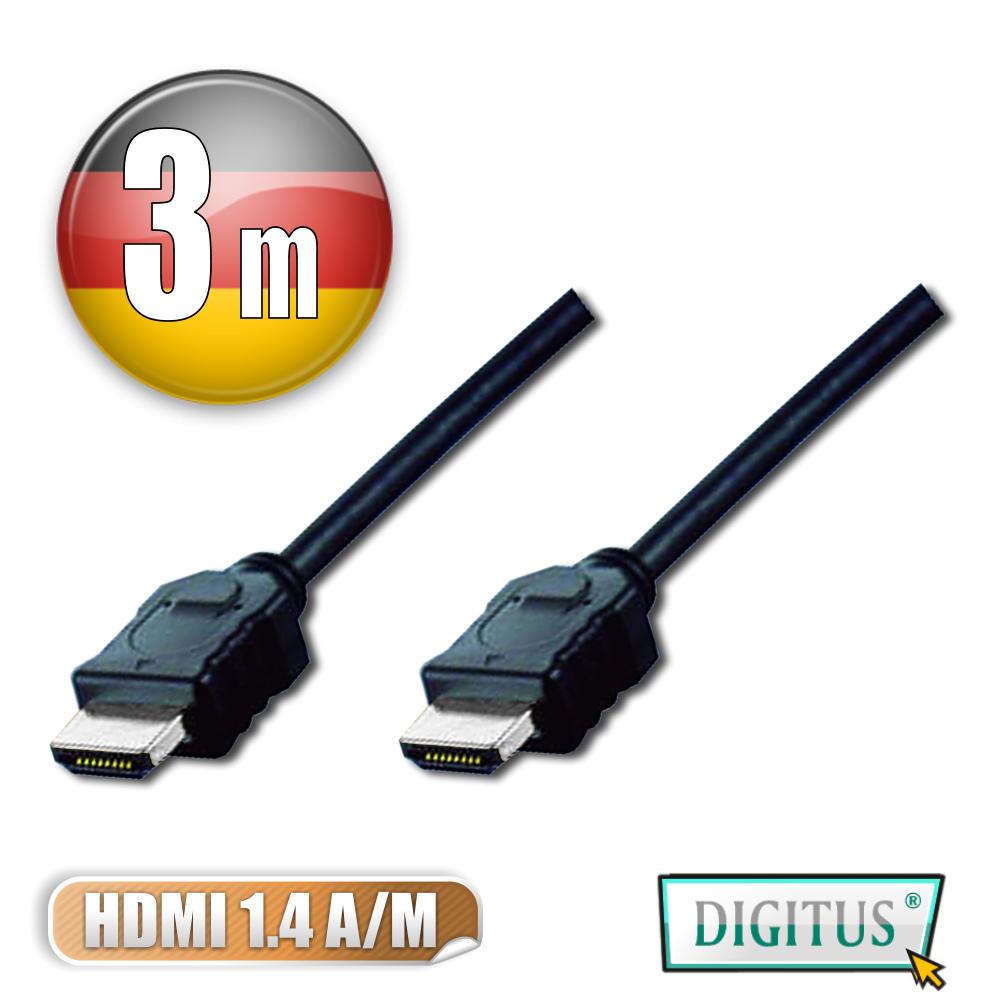 曜兆DIGITUS HDMI 1.4a圓線3公尺typeA