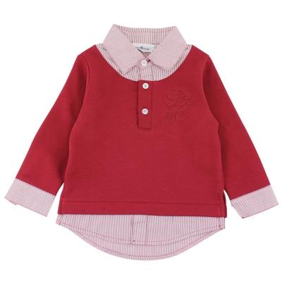 愛的世界-pappa-ciccia-假兩件襯衫式上衣-2-4歲