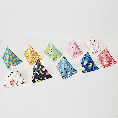 7321 Design 彩繪塗鴉禮品包裝三角禮物袋組-BBH