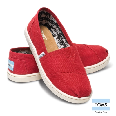 TOMS 經典帆布懶人鞋-孩童款