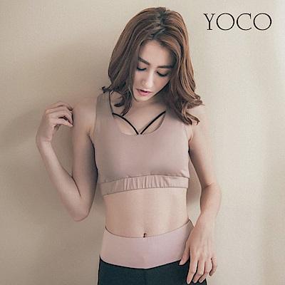 東京著衣-yoco美力女孩-交叉線條美胸運動內衣背心-S.M共一色