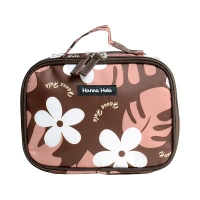 日本Hanna Hula-多用途隨身包-可裝衣物/尿片(花葉咖)