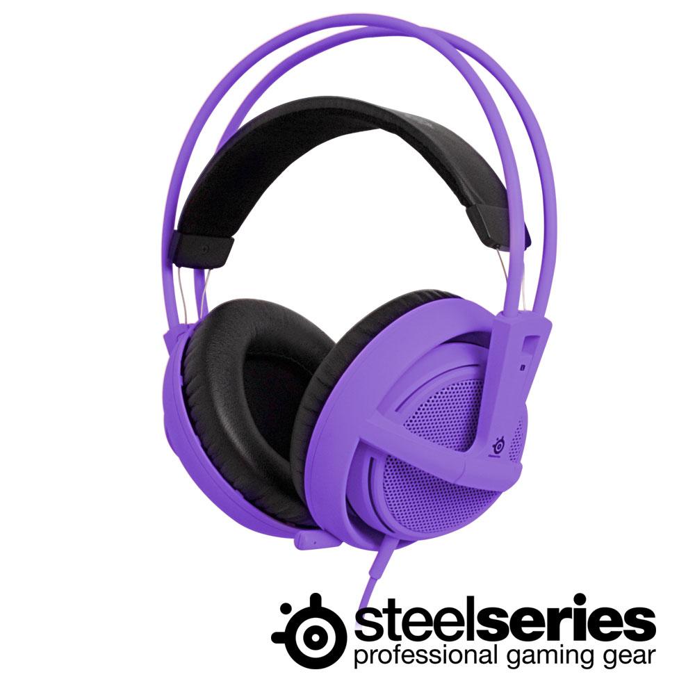 SteelSeries 西伯利亞V2 頭戴式耳機麥克風(羅蘭紫)