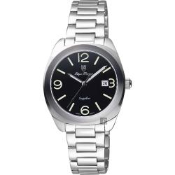 Olympianus 奧柏 經典復刻女錶-黑x銀/34mm
