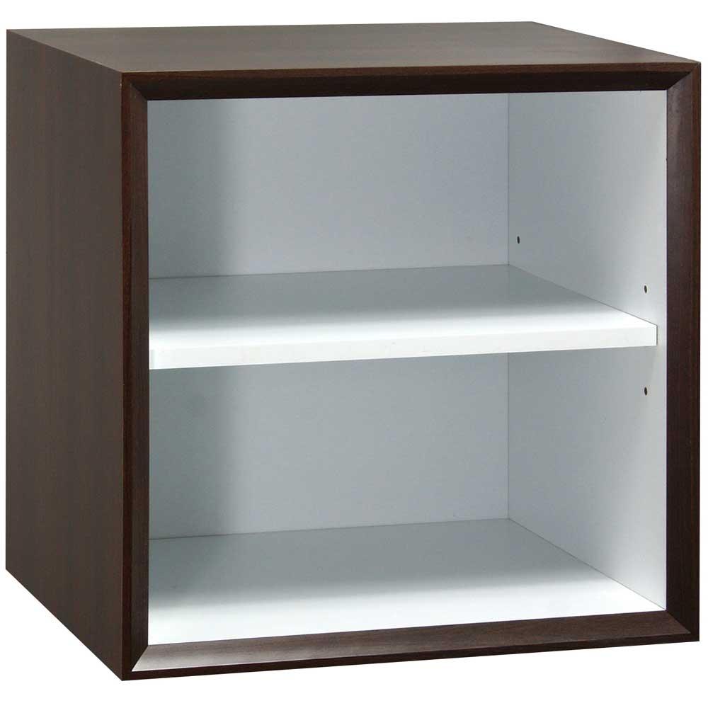 魔術方塊30系統收納櫃/棚板櫃-胡桃色