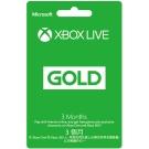 Xbox LIVE 3個月金會員訂閱卡(不適用鑑賞期)