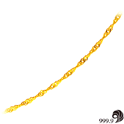 【歷代風華】幸運黃金(約1.05錢)項鍊