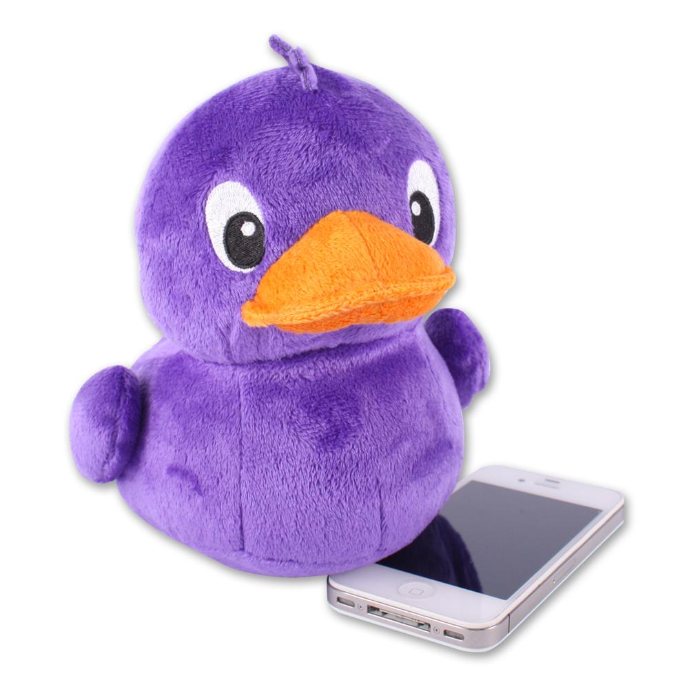 Yahoo! - 紫色小鴨毛絨手機座