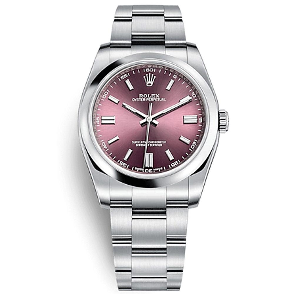 ROLEX 勞力士 116000蠔式錶款葡萄紫面盤-36mm