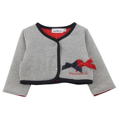 愛的世界 pappa&ciccia 純棉兩面穿長袖小外套/4~8歲