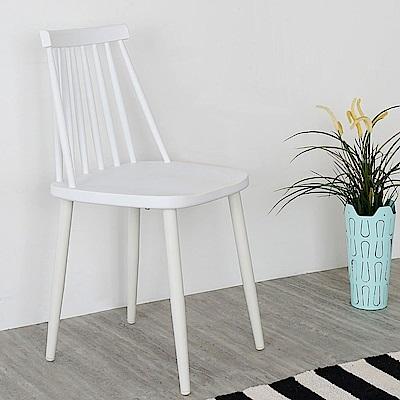 Homelike 莎拉北歐造型餐椅(亮麗白)-43x42x83cm