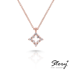 STORY故事銀飾-Star晶鑽系列-FairyStar 純銀晶鑽項鍊