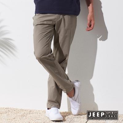 JEEP 經典都市休閒造型長褲 (暗卡其色)