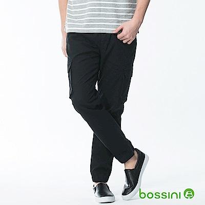bossini男裝-輕鬆束口長褲03黑