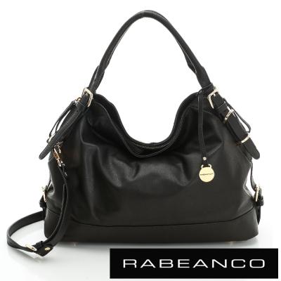 RABEANCO-OL-時尚粉領系列垂墜感側背包-黑