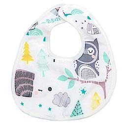 Baby unicorn 樹林造型純棉圍兜口水巾