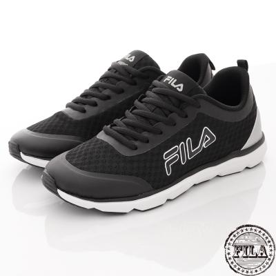FILA 男款 復古網狀慢跑鞋~黑 1-J319R-041