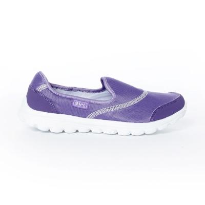 TOP GIRL-簡約健走無鞋帶懶人休閒鞋-紫