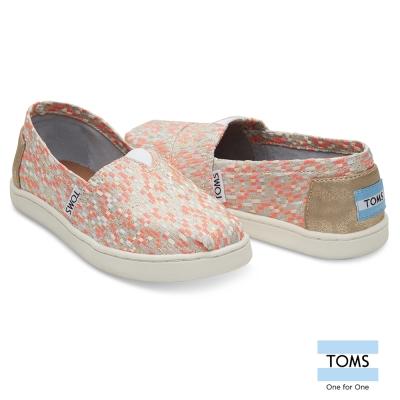 TOMS 編織拼接懶人鞋-孩童款
