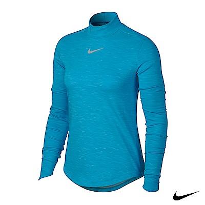 Nike Dry 女運動長袖高領上衣 藍 855229-486