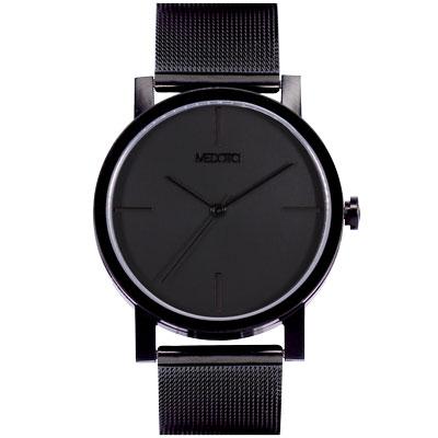 MEDOTA極簡輕薄手錶-低調系列男錶黑色40mm