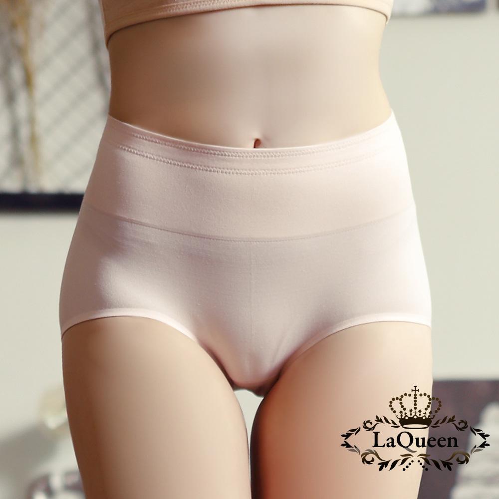 內褲  素面簡約無痕蠶絲內褲-粉橘 La Queen