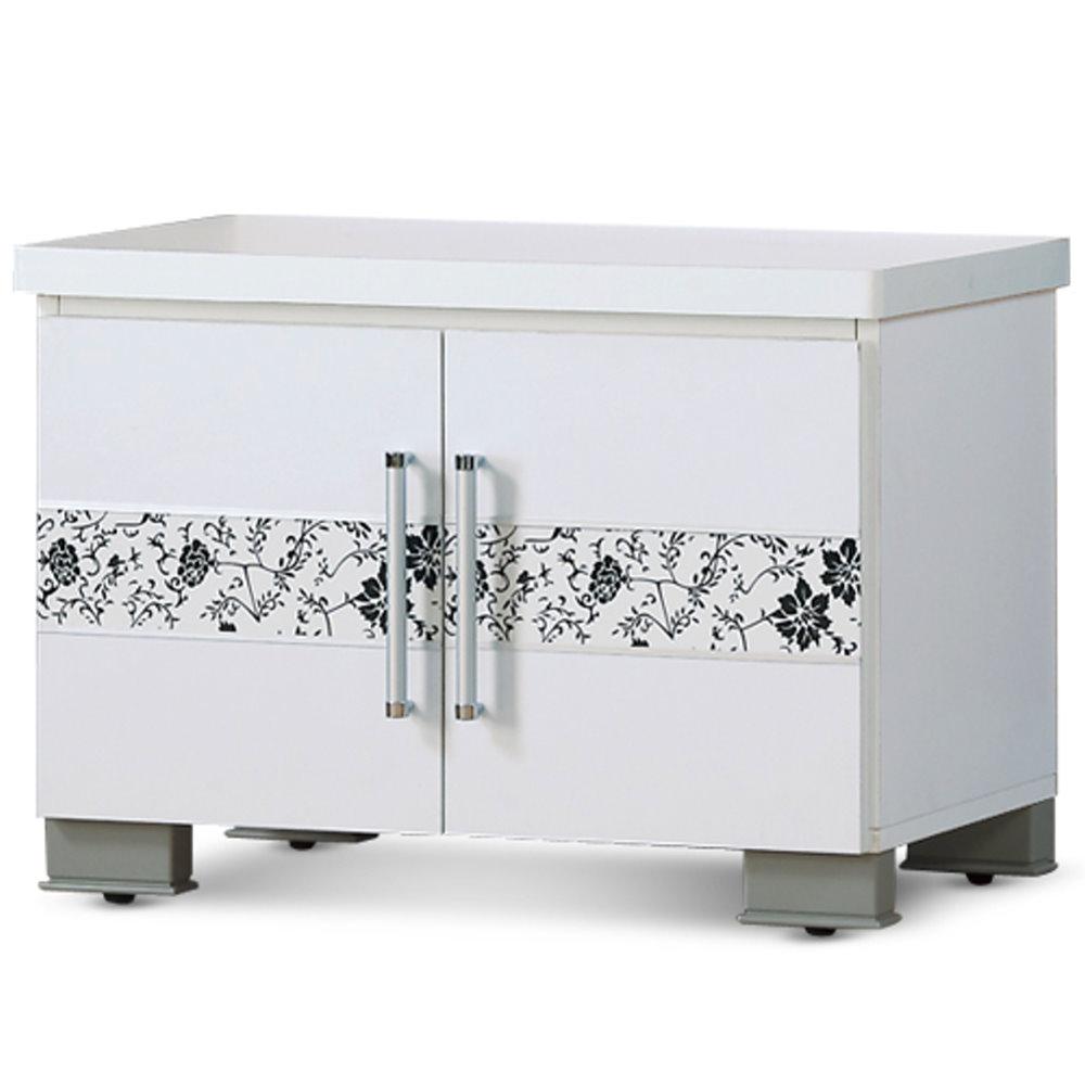 《居》歐夏蕾2尺白色座鞋櫃