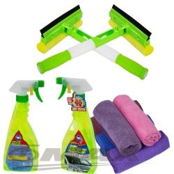 omax3合1可折式多功效清潔刷2入+速光澤玻璃油膜去除劑2入+擦拭布5入