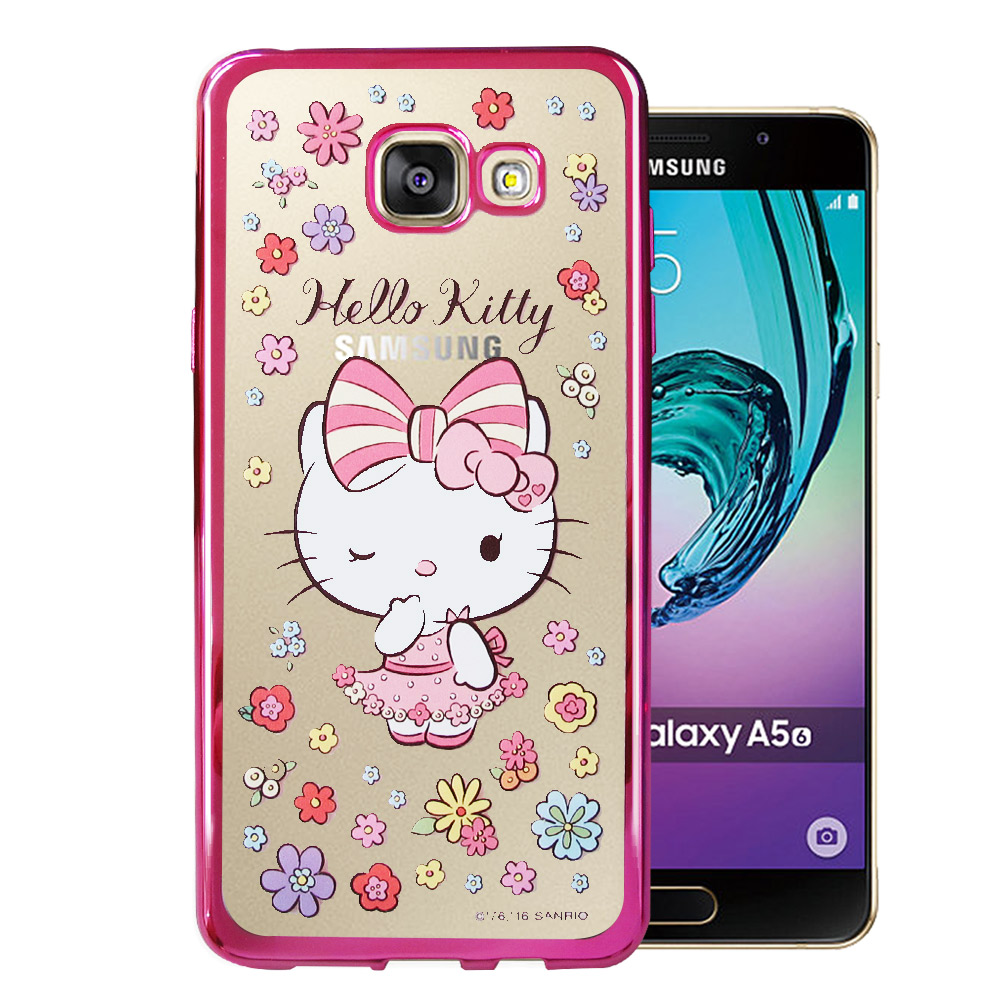 Hello Kitty Samsung Galaxy A5(2016) 電鍍手機殼(花邊)