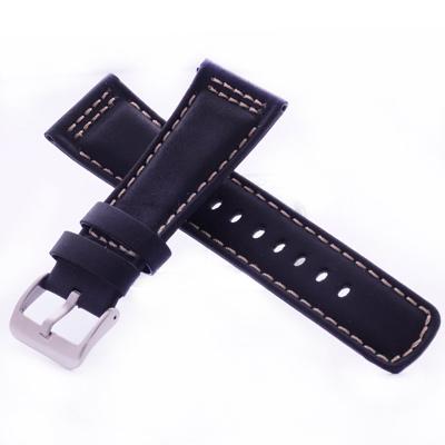 沛納海代用皮帶名廠同級迷霧黑車米線瘋馬皮錶帶-26*22mm