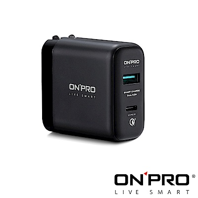 ONPRO UC-C6QC30 Type-C 2用QC3.0 6A快充USB急速充電器