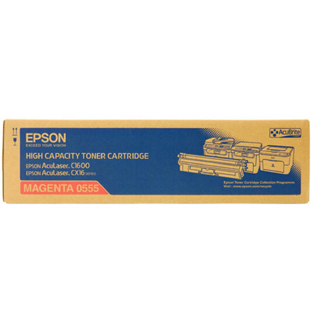 EPSON C13S050555 紅色碳粉匣(2700張)
