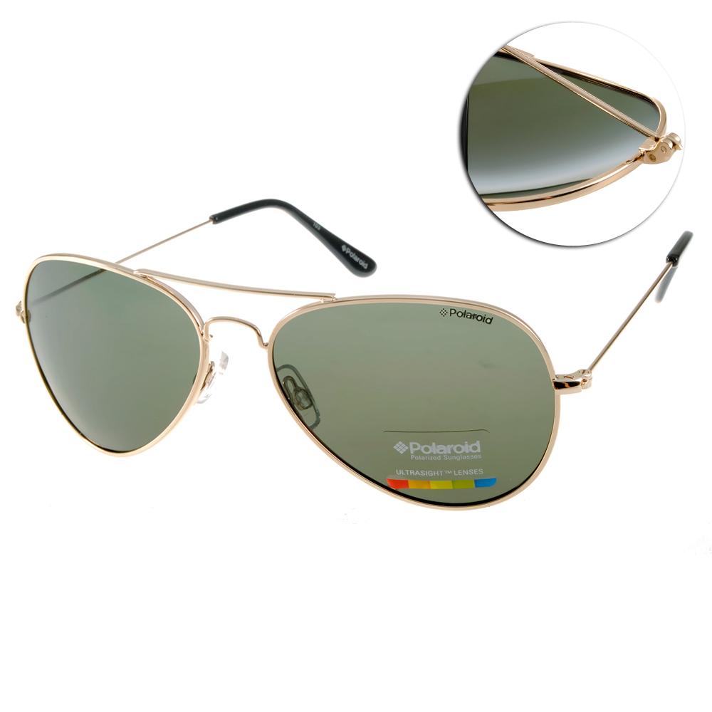 Polaroid 偏光太陽眼鏡/運動輕時尚/金-墨綠#PD04213W 00UH8