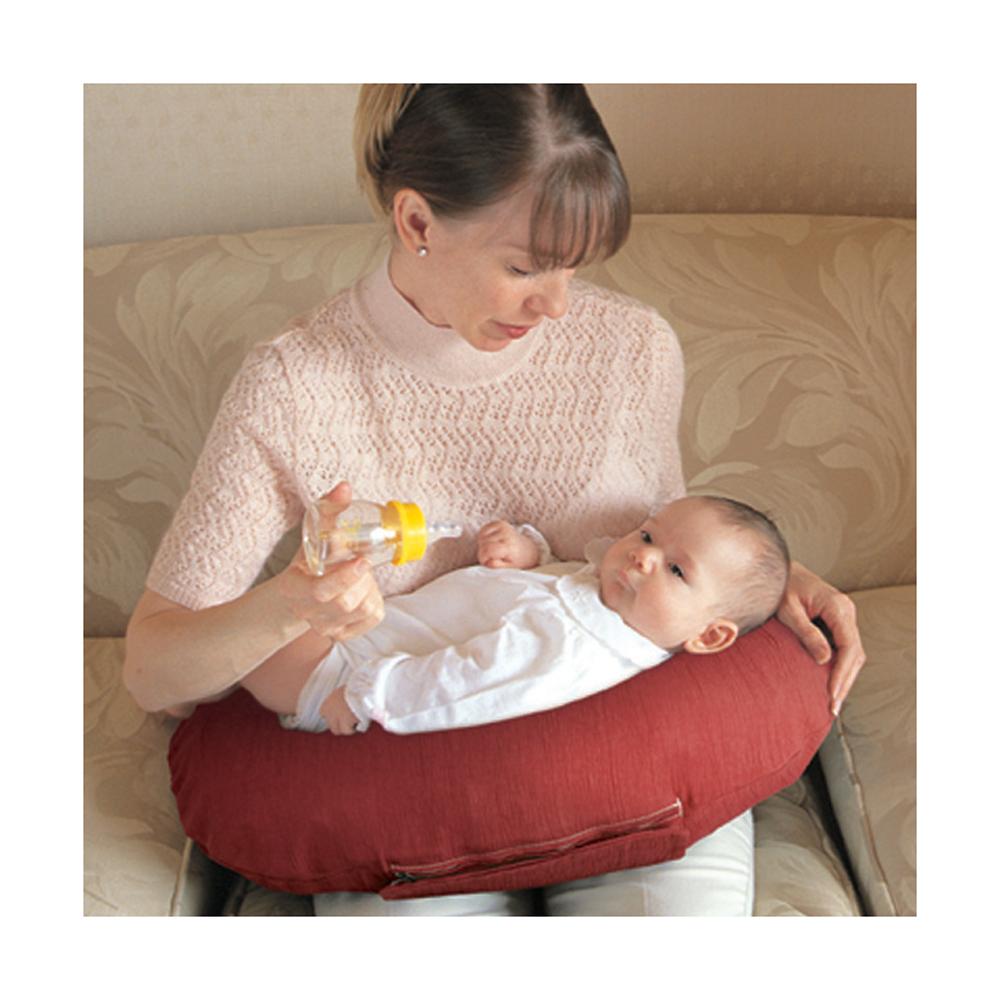 Eightex充氣式多用途授乳枕(紅條紋)