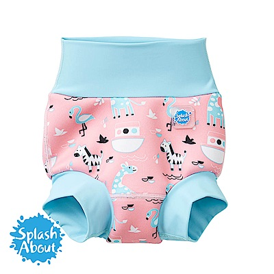 Splash About 潑寶 3D加強版 游泳尿布褲 - 粉紅動物園