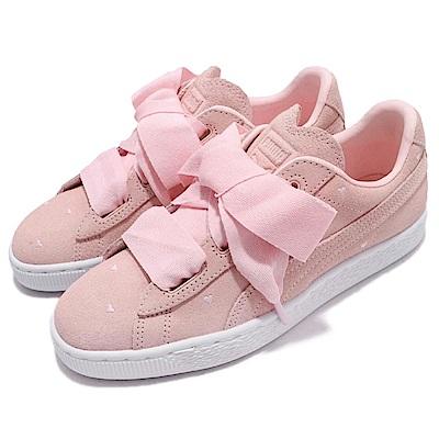 Puma 休閒鞋 Suede Heart JR 女鞋