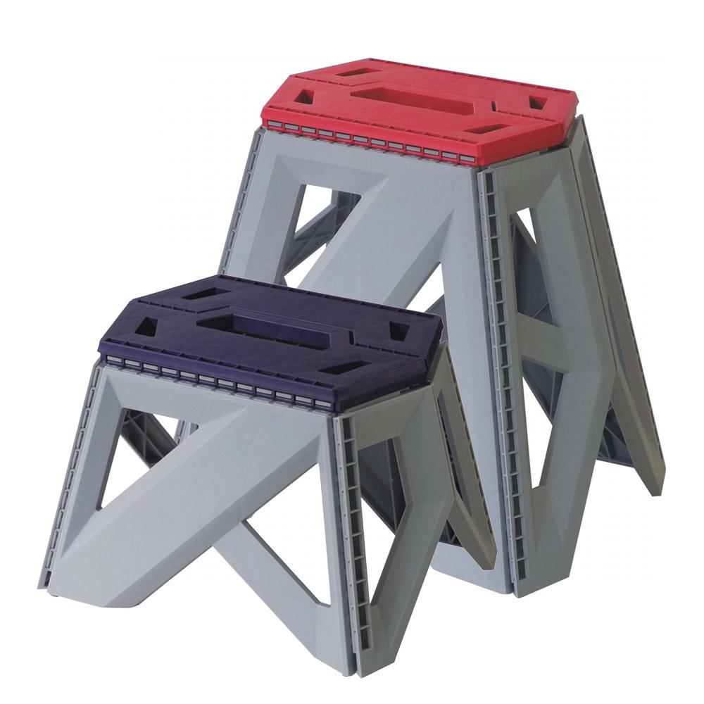 創意達人金剛豪華止滑摺合椅大+小6入組