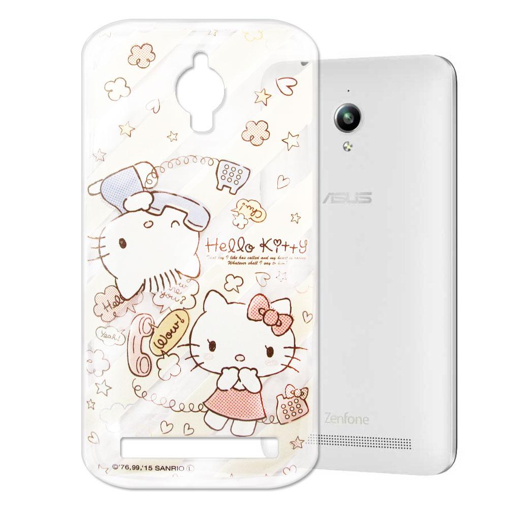 Hello Kitty Asus Zenfone GO 透明軟式手機殼 熱線款