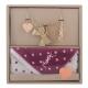 YSL 甜美公主風吊飾雪花點點方巾禮盒組-奢華金 product thumbnail 1