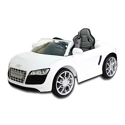 奧迪R8電動車高端版-白色奧迪/AUDI/可遙控
