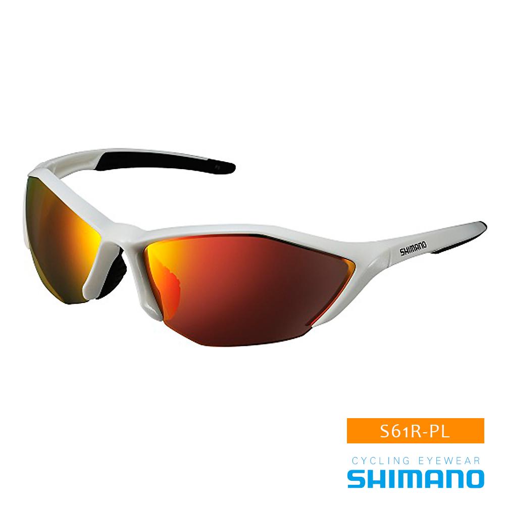 SHIMANO S61R-PL運動太陽眼鏡 白黑