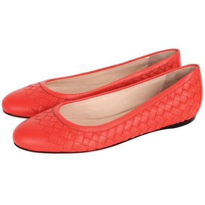 BOTTEGA VENETA NAPPA 經典編織平底鞋(紅色)