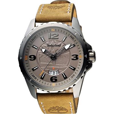 Timberland Men Quartz 時尚腕錶-灰x灰綠/45mm