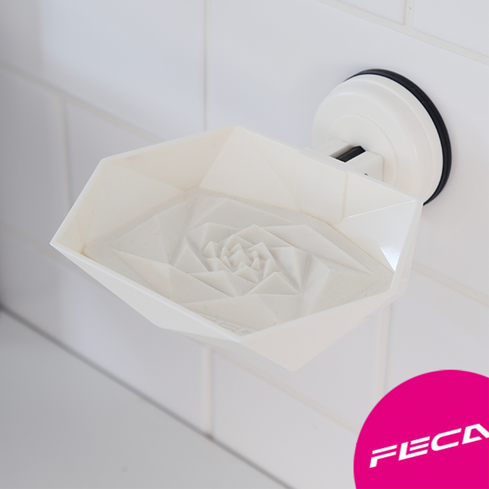FECA非卡 芙洛拉肥皂盤(白)