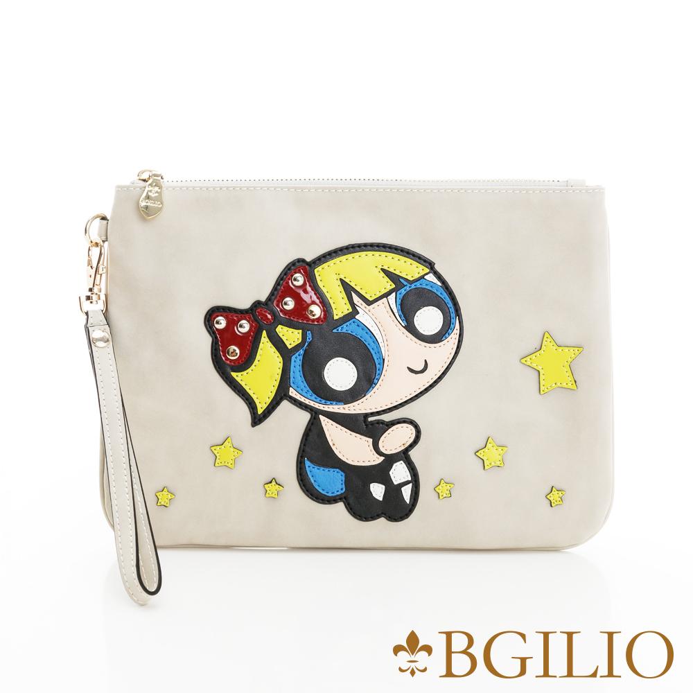 義大利BGilio-活潑童趣星空娃娃萬用包(經典卡通-大款)-米色2245.002-02