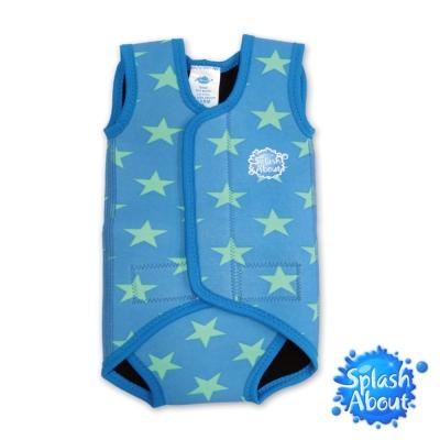 《Splash About 潑寶》BabyWrap 包裹式保暖泳衣 -活力滿天星 / 粉藍