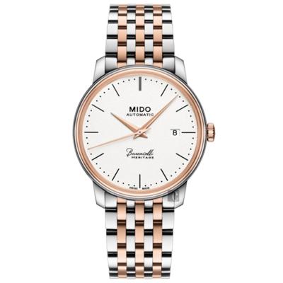 MIDO美度Baroncelli III Heritage復刻機械錶-銀x雙色/39mm M0274072201000