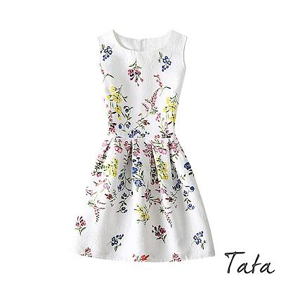 印花無袖洋裝 TATA